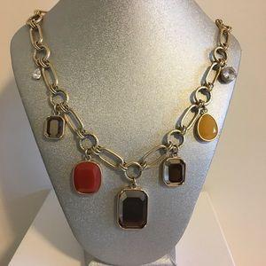 Lia Sophia Capulet fall statement necklace chunky